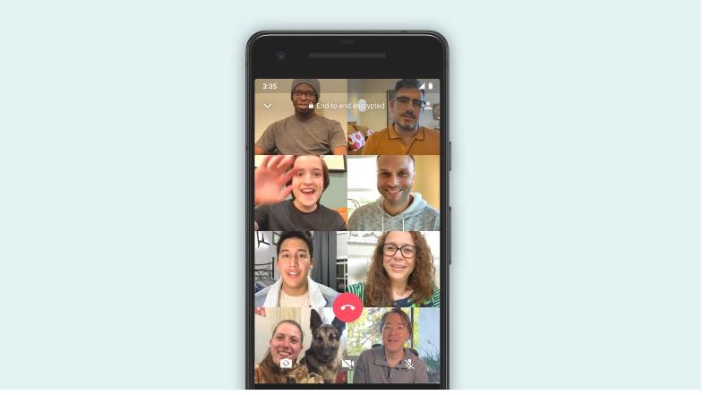 بإمكانك الآن علي واتساب إجراء محادثات صوتية أو فيديو لـ50 أشخاص