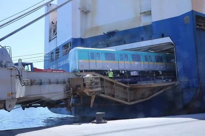 عربات جديدة لمترو أنفاق القاهرة تصل من كوريا الجنوبية