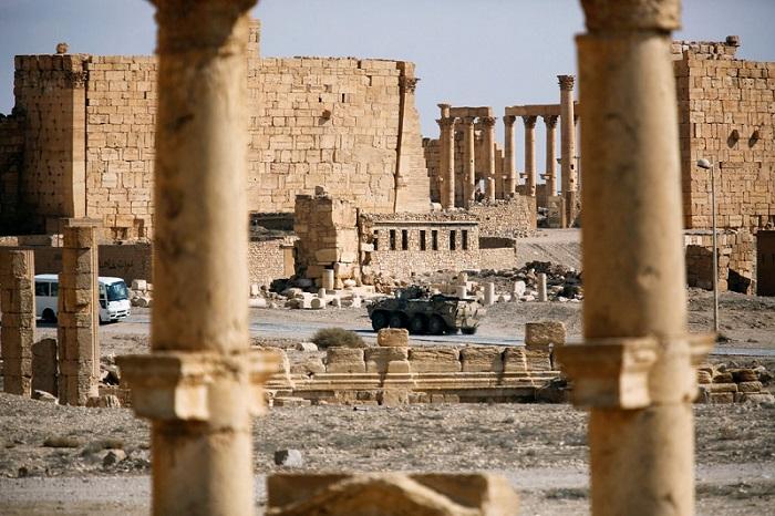 عرضت القطع الأثرية التي قيل أنها أخذت من أطلال تدمر القديمة في سوريا للبيع على شبكة فيسبوك