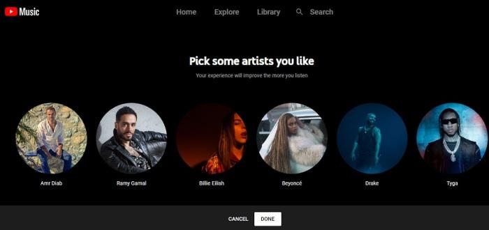 خدمة يوتيوب للموسيقي في مصر بـ 50 جنيه شهريا