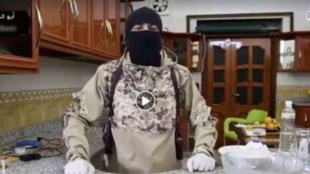 عُثر على هذا الفيديو لتنظيم داعش على حساب باللغة الإندونيسية