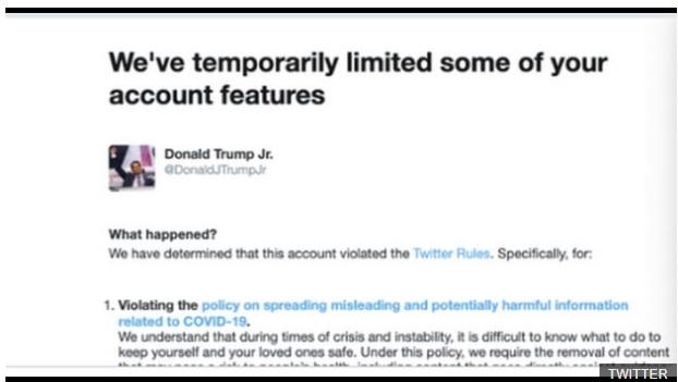 دونالد ترامب الأبن لديه 5.3 مليون متابع علي شبكة تويتر