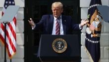 الرئيس الأمريكي دونالد ترامب خلال القاء كلمة في البيت الأبيض بواشنطن يوم 16 يوليو 2020