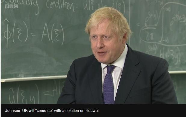 سيتخذ رئيس الوزراء البريطاني بوريس جونسون قريبا قرار بشأن وضع شركة هواوي في شبكة الجيل الخامس للاتصالات