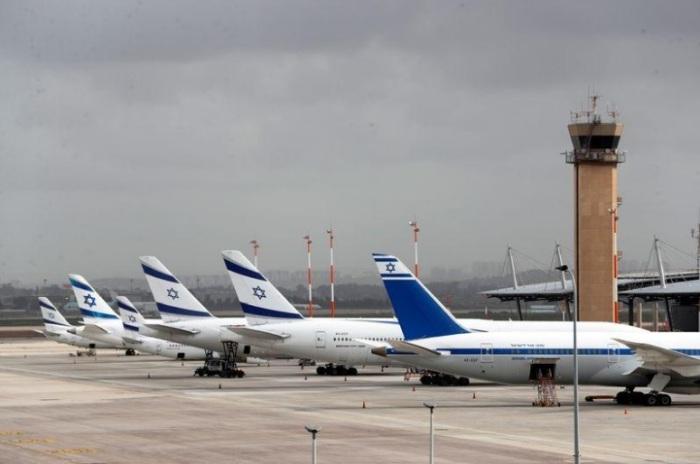 طائرات تابعة لشركة طيران العال الإسرائيلية في مطار بن جوريون بالقرب من تل أبيب يوم 10 مارس 2020