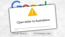 خطاب مفتوح من جوجل الي مستخدمي خدماتها في استراليا