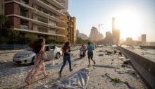 آثار الدمار علي مدينة بيروت بعد الإنفجار الذي حدث في مرفأ بيروت مساء الثلاثاء 4 أغسطس 2020