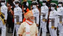 رئيس الوزراء الهندي ناريندرا مودي في نيودلهي يوم السبت 15 أغسطس 2020