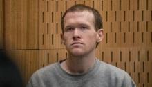 برينتون تارانت منفذ هجوم على مسجدين في مدينة كرايستشيرش أثناء محاكمته بالمحكمة العليا في نيوزيلندا يوم الخميس 27 أغسطس 2020