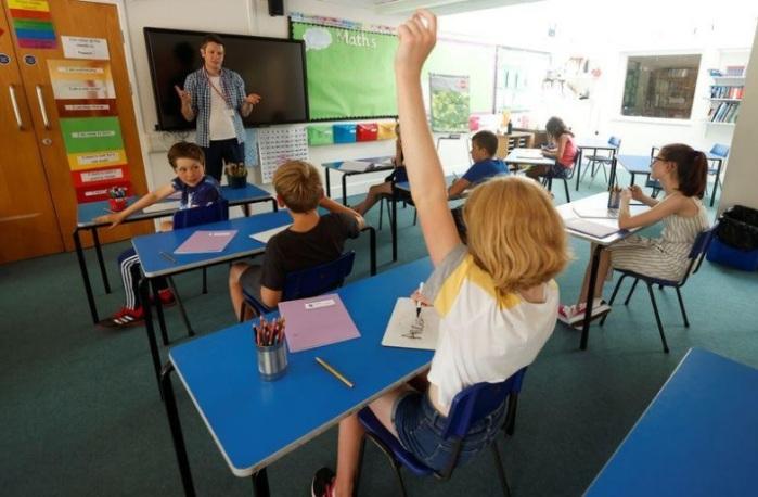 فصل دراسي في بريطانيا يوم 17 يوليو 2020