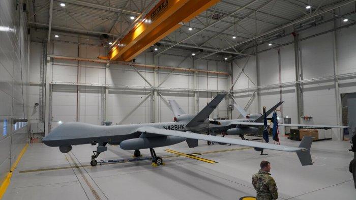 طائرة أمريكية بدون طيار من طراز ريبر في قاعدة أماري الجوية في إستونيا - يوليو 2020