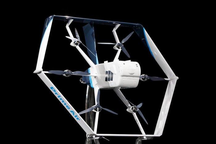 طائرة شركة أمازون المسيرة سداسية الشكل التي ستستخدم لتوصيل الطلبات الي عملائها في أقل من 30 دقيقة