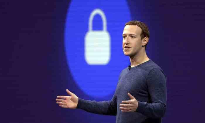 الرئيس التنفيذي لشركة فيسبوك مارك زوكربيرج