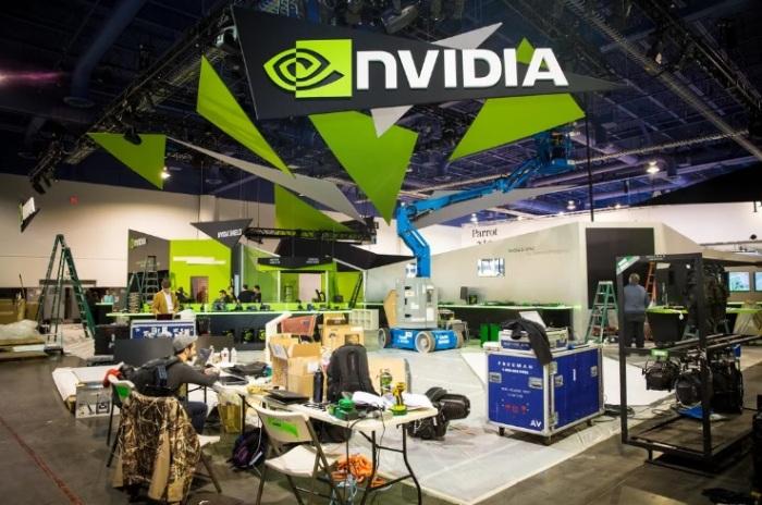 جناح شركة إنفيديا بأحد معارض الكمبيوتر