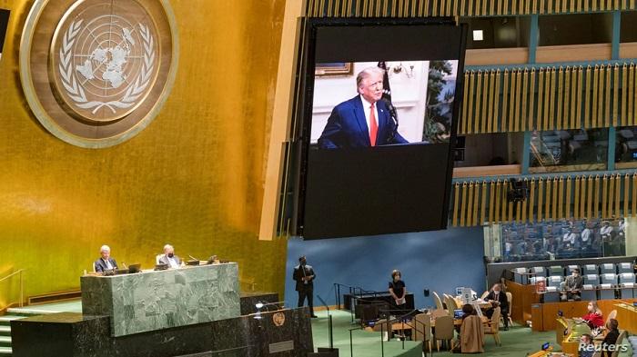 الرئيس الأمريكي ترامب يلقي كلمته أمام الجمعية العامة للأمم المتحدة يوم الثلاثاء 22 سبتمبر 2020