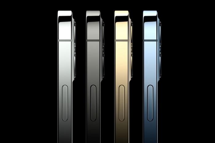 يتميز التصميم الجديد لموبايل أيفون 12بحواف مسطحة ولون ذهبي جديد مشرق ولون أزرق باسيفيك متغير