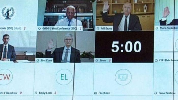 شهادات رؤساء أمازون وجوجل وفيسبوك وأبل أمام الكونجرس في يوليو 2020