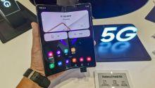 موبايل شركة سامسونج القابل للطي يدعم تكنولوجيا الجيل الخامس للاتصالات