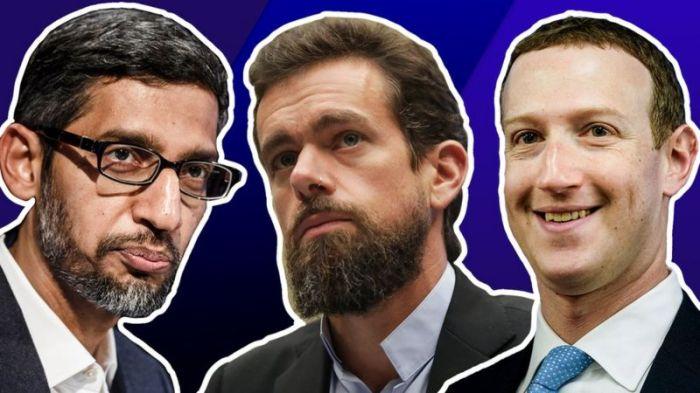 الرؤساء التنفيذيون لشركات فيسبوك و جوجل و تويتر