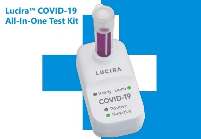 جهاز شركة لوسيرا لاختبار الإصابة بفيروس كورونا والذي يتم في المنزل وتظهر النتيجة بعد حوالي 30 دقيقة وفقا لبيان الشركة يوم الثلاثاء 17 نوفمبر 2020