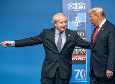 رئيس الوزراء البريطاني بوريس جونسون والرئيس الأمريكي دونالد ترامب في لندن ديسمبر-2019
