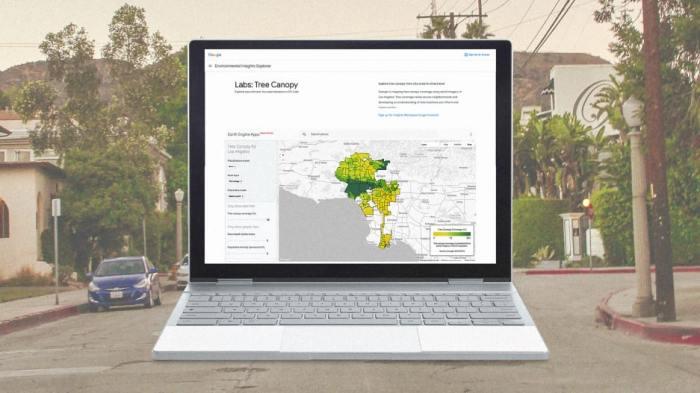 أداة جوجل باستخدام الخرائط تتيح للمدن التعرف علي الأماكن الأكثر احتياجا للتشجير