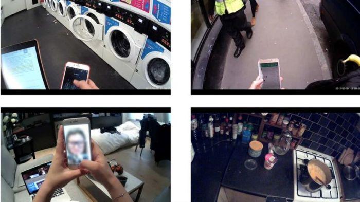 تم تزويد المشاركين في الدراسة بكاميرات لمراقبة استخدام الشاشة