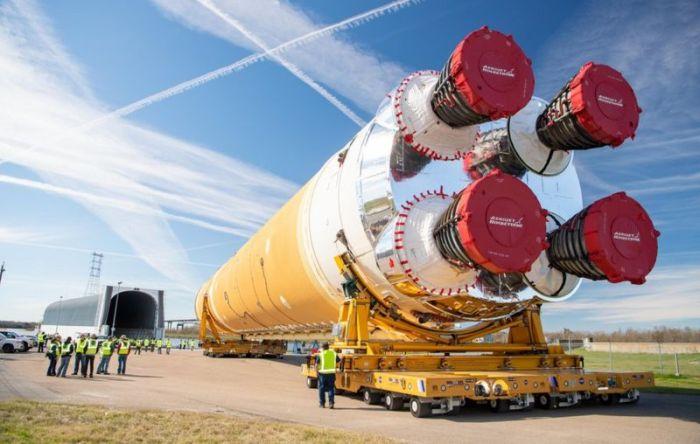 تم نقل جسم الصاروخ من لويزيانا إلى مسيسيبي للاختبار أوائل العام