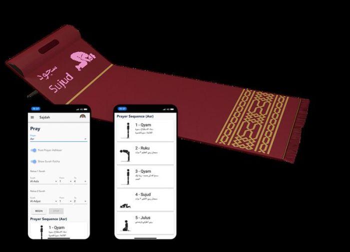 تطبيق علي الموبايل لسجادة الصلاة الرقمية