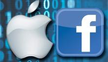 شعار أبل و شعار فيسبوك