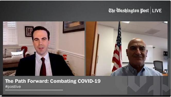 الدكتور منصف سلاوي المستشار العلمي لعملية توزيع لقاح كورونا بالولايات المتحدة في حوار مع صحيفة واشنطن بوست يوم الثلاثاء 1 ديسمبر