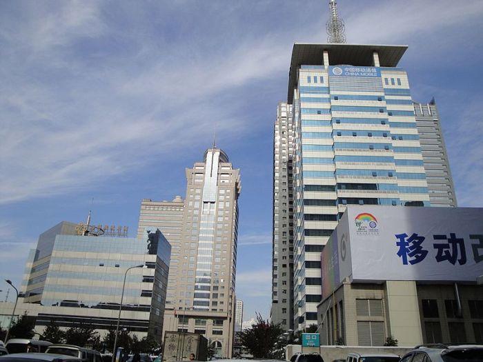 المقر الرئيسي لشركة الاتاصالات العملاقة تشاينا موبايل في العاصمة الصينية بكين