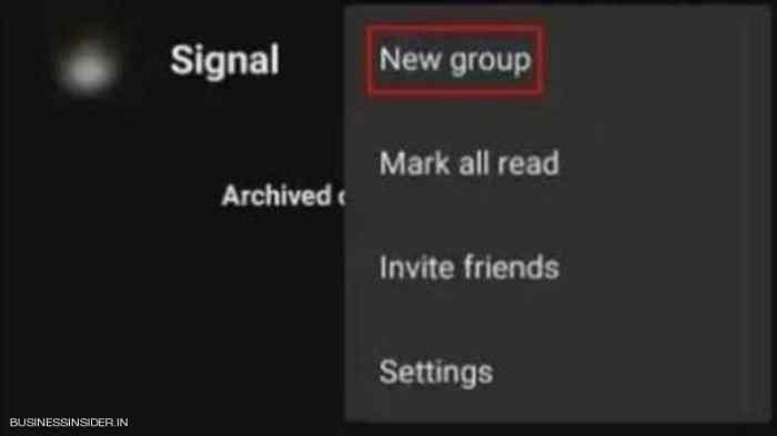 إنشاء مجموعة على سيجنال