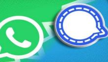 شعار تطبيق واتساب وتطبيق سيجنال