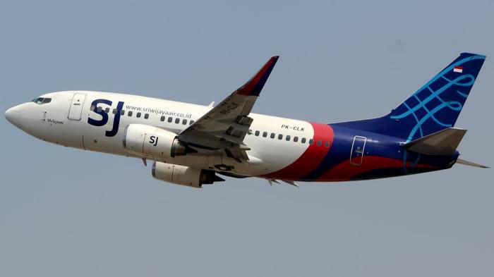 طائرة من طراز بوينج 737-524 تابعة لشركة سريويجايا بدولة إندونسيا