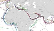 الكابلات البحرية التي تمر بمصر وتربط قارات أفريقيا وآسيا وأوربا