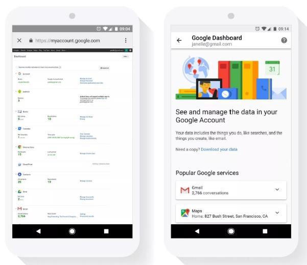 قامت جوجل بتكييف لوحة التحكم في الخصوصية privacy-control الخاصة بها للأجهزة المحمولة وكذلك متصفحات سطح المكتب.