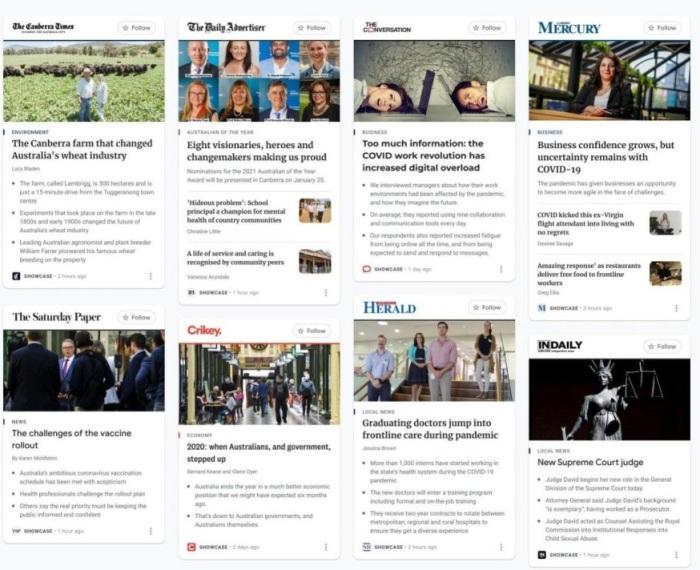 منصة جوجل للأخبار مدفوعة الأجر في استراليا تم إطلاقها يوم الجمعة 5 فبراير 2021