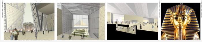 التصميم الهندسي للمتحف المصري الكبير