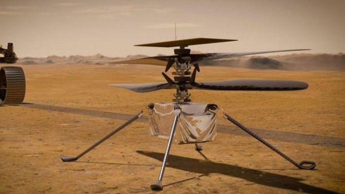المروحية إنجنوتي ستبدأ اول مهمة تحليق في الغلاف الجوي للمريخ وهو أخف وزنا وأقل كثافة من غلاف الأرض