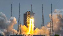 أطلقت الصين الوحدة الأولي من محطتها الفضائية من مركز وينتشانج الفضائي