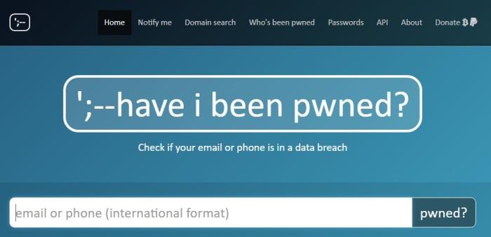 موقع Have I Been Pwned? يتيح للمستخدم معرفة هل تم اختراق بياناته في عمليات القرصنة