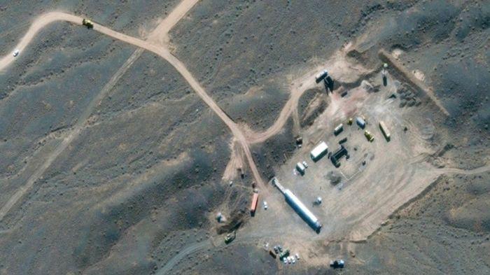 صورة بالأقمار الصناعية لمنشأة تخصيب اليورانيوم في نطنز الإيرانية في أكتوبر 2020