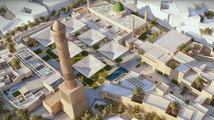 مخطط إعادة بناء مجمع جامع النوري التاريخي في مدينة الموصل بالعراق.