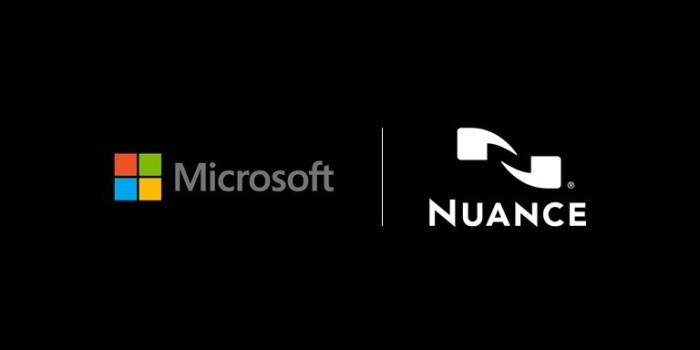 """شعار شركتي مايكروسوفت و """"نوانس"""" للذكاء الإصطناعي"""
