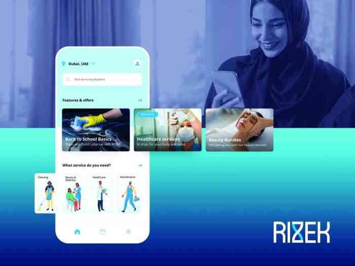 """تطبيق """"رزق"""" الإماراتي لتوفير الخدمات المنزلية"""