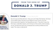 مدونة ترامب الجديدة لم تحظي علي الشعبية التي كان يتوقعها
