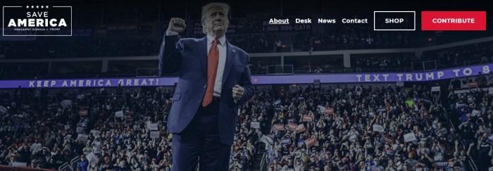 الموقع الإلكتروني الجديد للرئيس ترامب