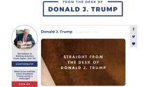 صورة من المنصة الإلكترونية الجديدة للرئيس الأمريكي السابق دونالد ترامب