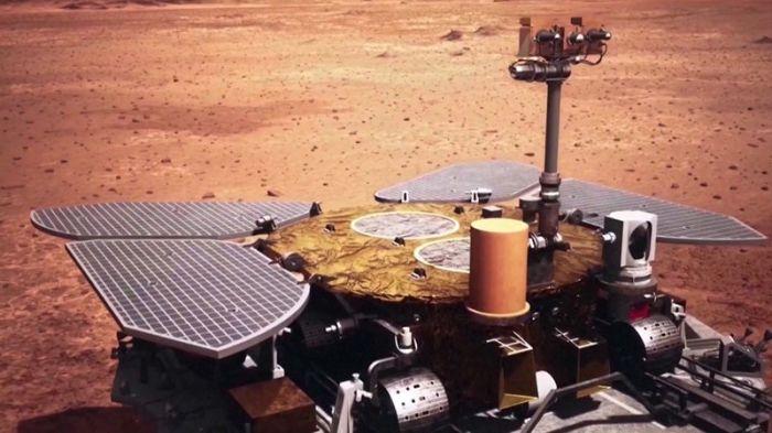 صورة افتراضية للروبوت زورونج توضح تشابهه مع مركبات سبيريت وأوبورتيونيتي التابعة لوكالة ناسا